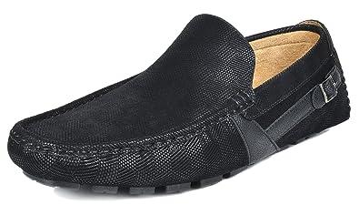 BRUNO MARC NEW YORK Bruno Marc Men's KENDO-02 Black Penny Loafers Moccasins  Shoes Size
