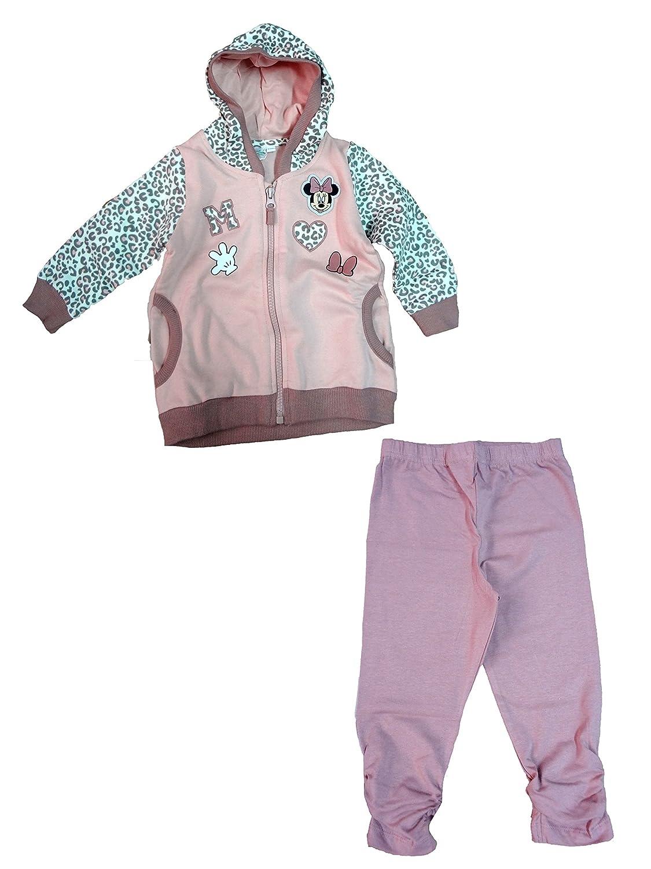tuta noenata in felpa full zip con cappuccio + leggings MINNIE topolina disney art. WD101250