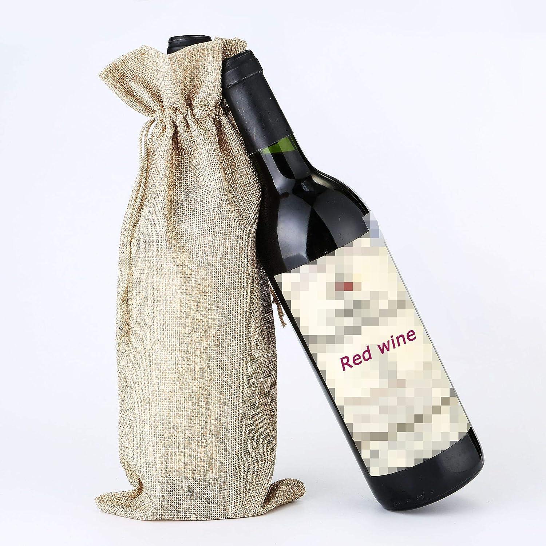 Cumplea/ñOs Y Celebraciones Navide/ñAs Viajes Bolsas De Vino De Yute Natural Bolsas De Regalo Para Vino Bolsa De Vino Champagne 35 X 15cm Bolsa Para Vino Tinto Se Utiliza Para Fiestas Bodas 6 Piezas