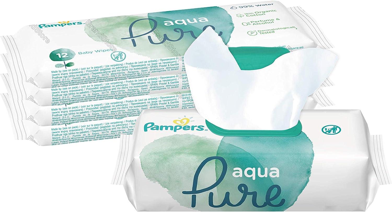 Pampers 81691041 - Aqua pure toallitas húmedas, unisex, lot de 5: Amazon.es: Bebé