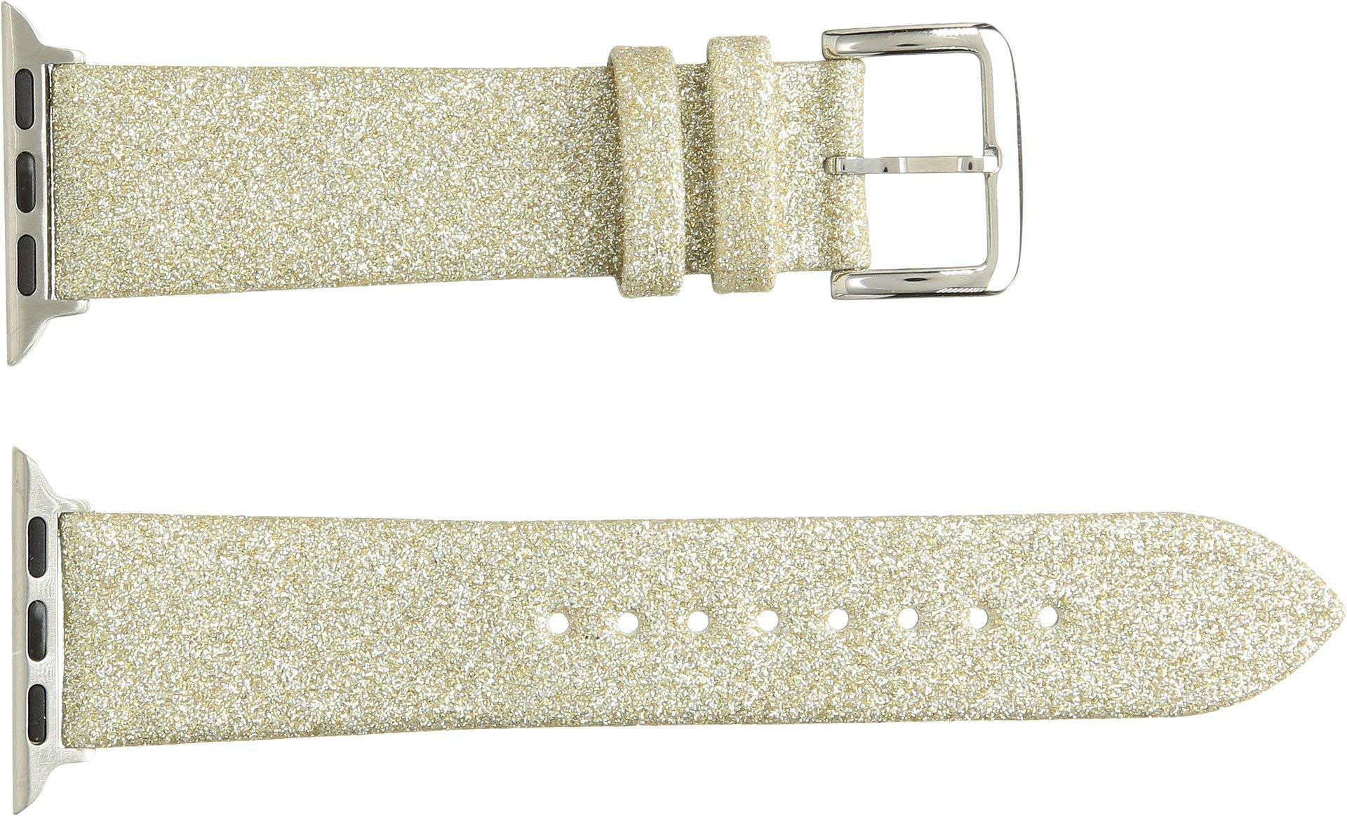 kate spade new york KSS0019 38mm Apple Straps Genuine Leather Gold Watch Strap by Kate Spade New York