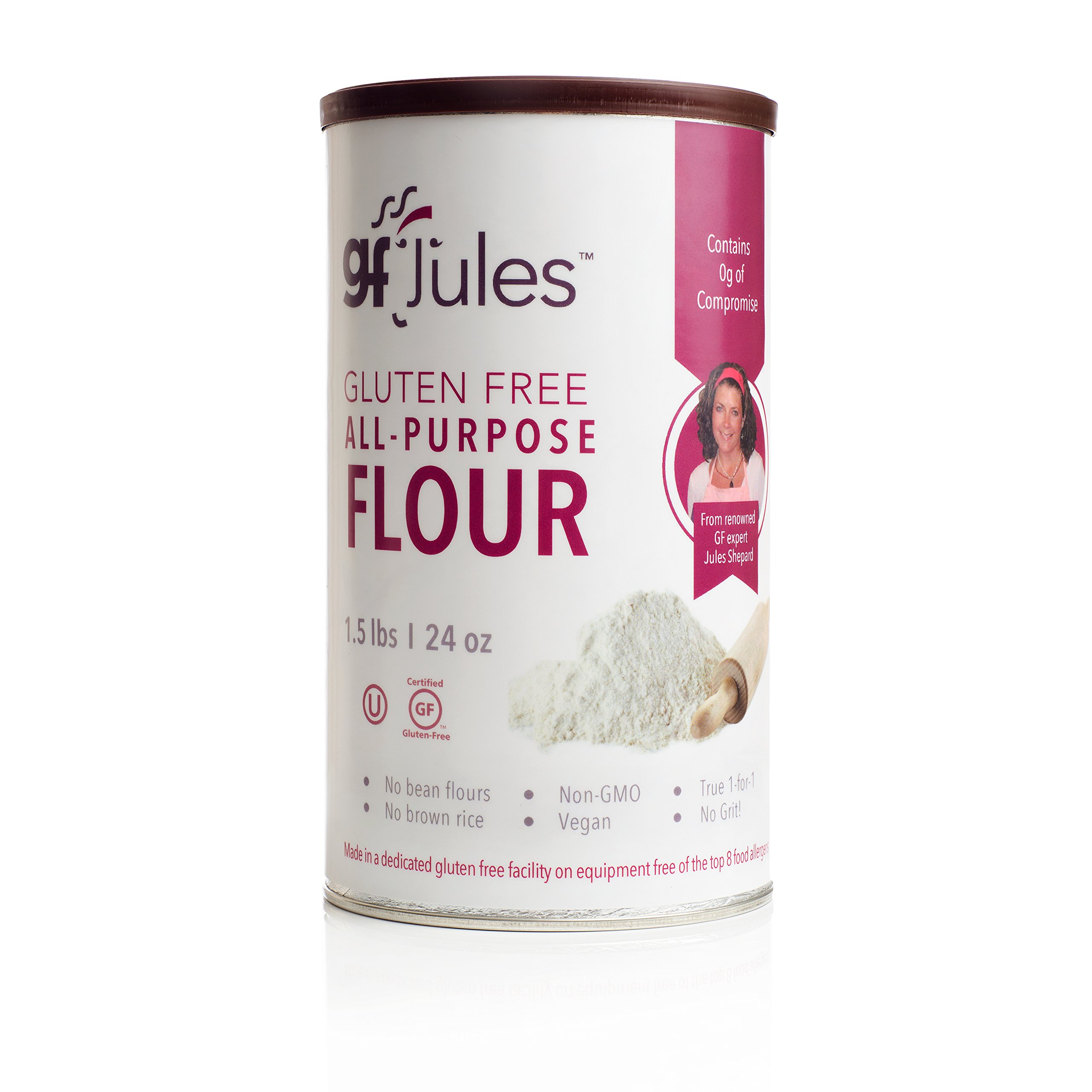 gfJules All Purpose Gluten Free Flour - Voted #1 by GF Consumers 1.5 lb Can, Pack of 1 by gfJules