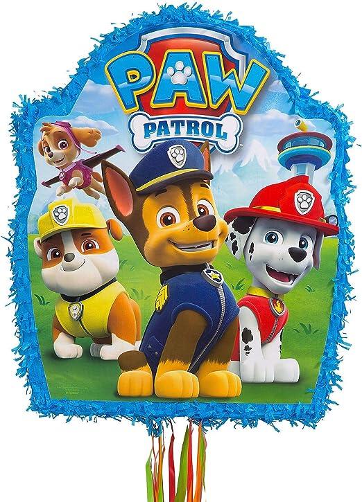 Ya Otta Pinata Pull String PAW Patrol Pinata, Birthday Party Activities, 2lb Filler Capacity, 18 x 21 1/2 Inches