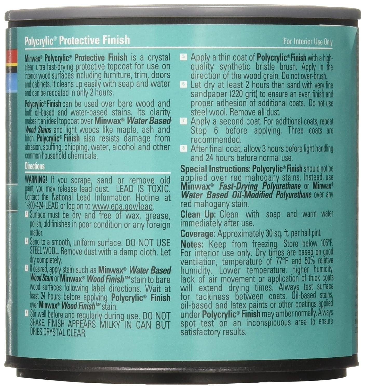 Minwax 33333000 Water-Based Polycrylic Clear Spray, 11 5 ounce Aerosol,  Satin