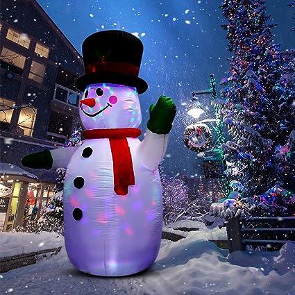 Amazon.com: Muñeco de nieve inflable para Navidad y Año ...