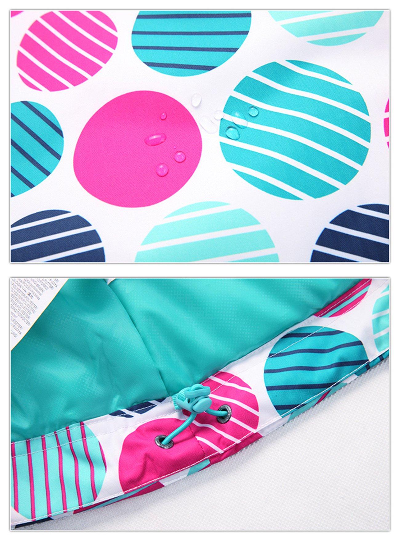 APTRO Women's High Windproof Technology Colorfull Printed Ski Jacket Style #37 Size S by APTRO (Image #5)