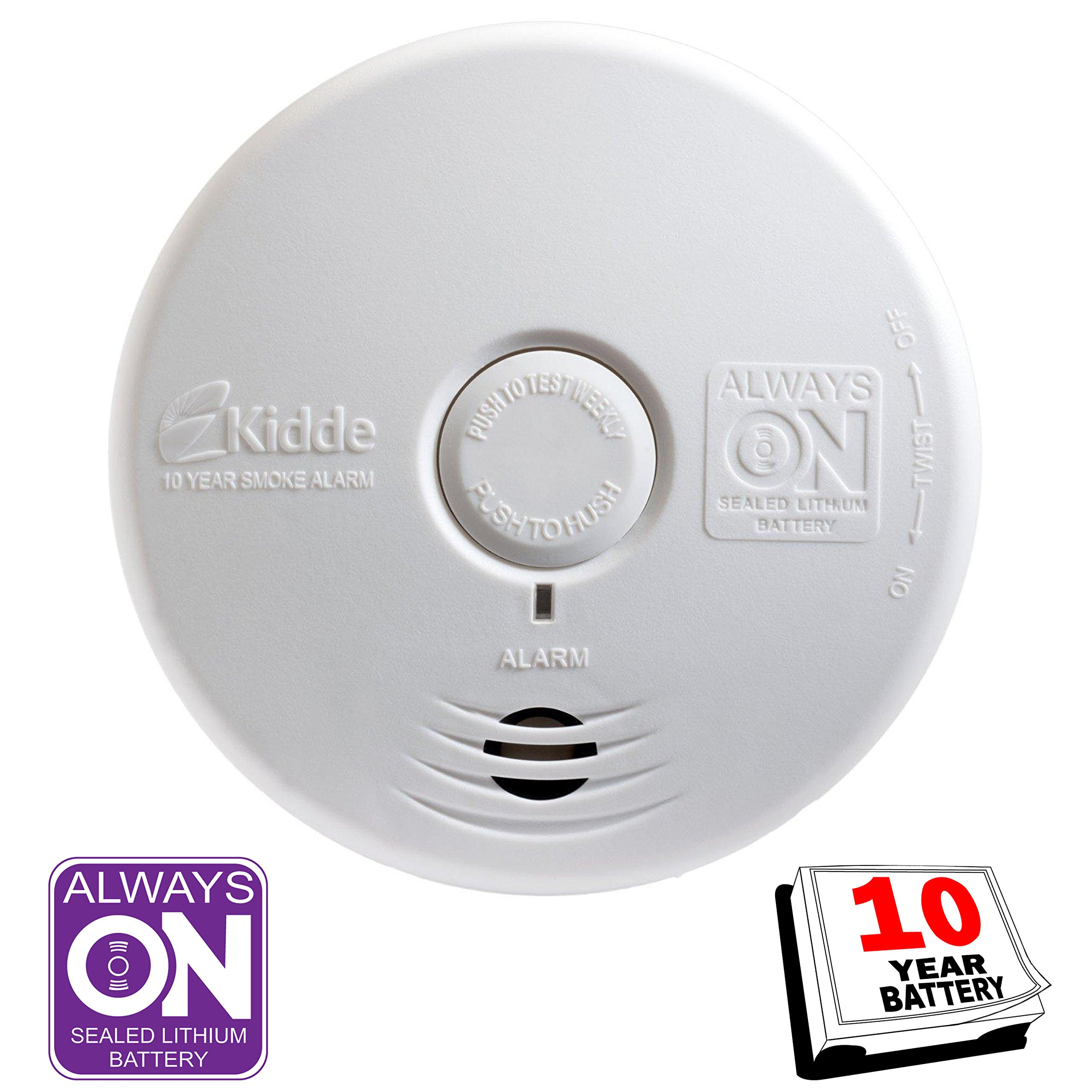 Kidde 21010170 P3010K-CO Worry-Free Kitchen Photoelectric Smoke and Carbon Monoxide Alarm with 10 Year Sealed Battery by Kidde