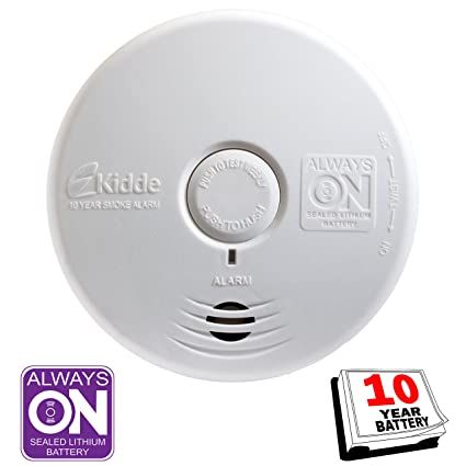 Kidde P3010K-CO Worry-Free Kitchen Photoelectric Smoke and Carbon Monoxide Alarm with 10