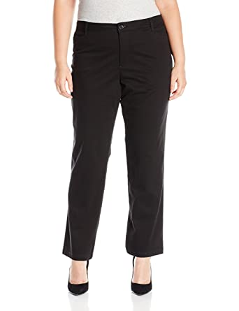 603a3839bb65 Riders by Lee Indigo Women's Plus Size Straight Leg Casual Twill Pant at  Amazon Women's Clothing store: