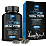 TestoTEK™ All Natural #1 Rated Testosterone Booster - 12 Ingredients, 120 Pills, 30 Day Supply - Strength, Energy, Stamina and More