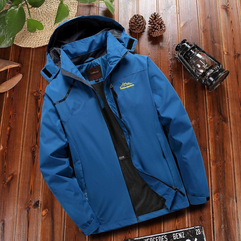 TAGGMY Jacket Men Fashion Winter Warm Plus Size Outdoor Fur Pocket Hoodie Zipper Sport Assault Oversize Coat Green 3XL 5XL