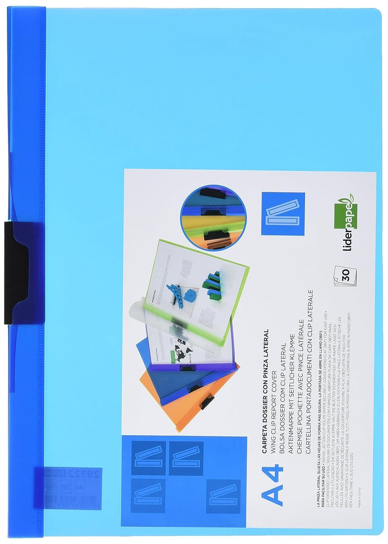 Liderpapel 929322 Chemise Polypropyl/ène Pr/ésentation Clip Lat/éral A4 210 x 297 mm 30 Feuilles Couture Transparente Frosty Vert
