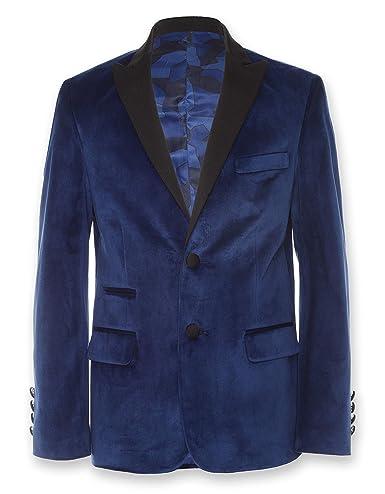Calvin Klein Boys' Velvet Blazer Jacket