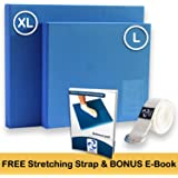 XL or L Foam Balance Pad - Free Stretching Strap & Bonus eBook   Extra Large Balance Pads for Physical Therapy Rehab & Ankle Recovery, Lower Back/Knee Pain   X Large Wobble Board Cushion for Strength
