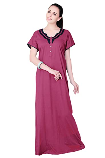 FARRY Imported Cotton Jersey Nightgown for Women  96cdb3bbf