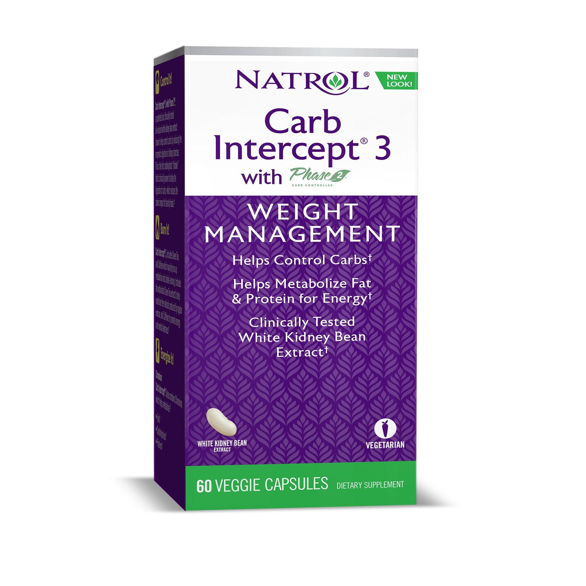 Natrol Carb Intercept 3 Capsules, 60 Count by Natrol