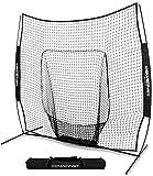 PowerNet Team Color Baseball Softball 7x7 Hitting Net w/ bow frame