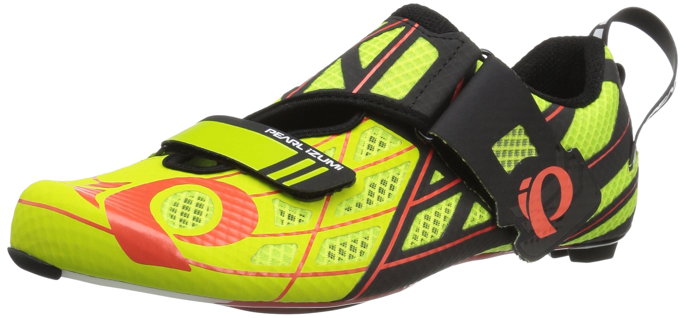 Pearl Izumi Tri Fly Pro v3 Cycling Shoe, Lime Punch/Black, 41 EU/7.7 D US
