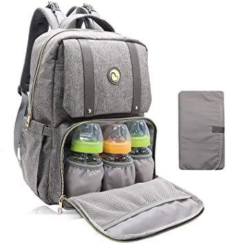 211f87867e46f Baby Changing Bag Backpack - Baby Bags with Changing Mat Maternity Nappy  Bag Multifunctional Rucksack for Moms Dads, Large Capacity, Waterproof and  ...