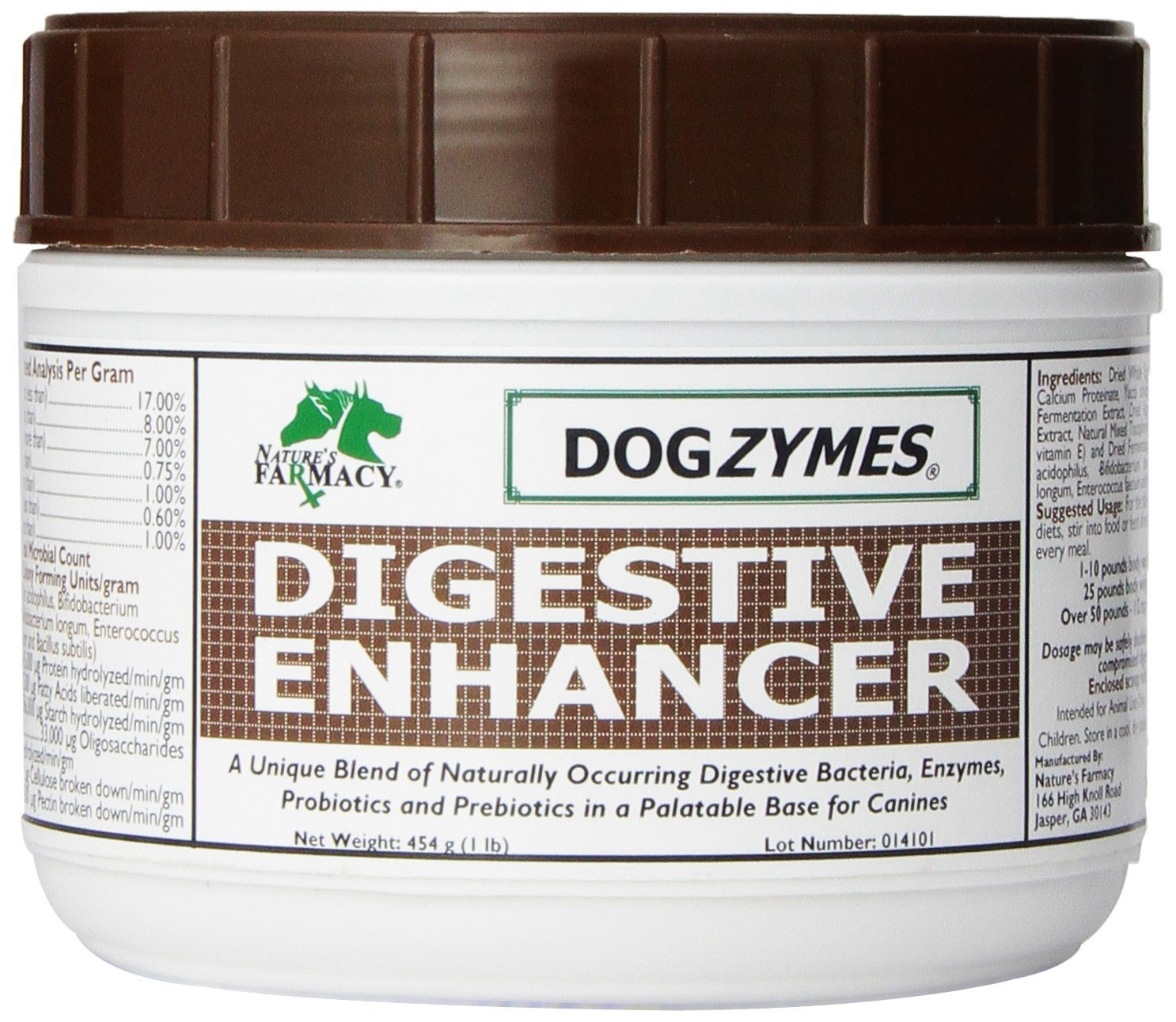 DOGZYMES Digestive Enhancing Pet Supplement, 1-Pound