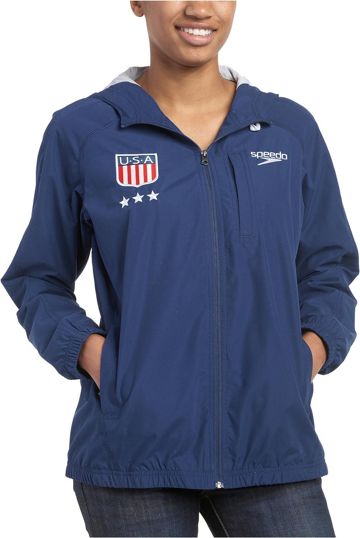 Speedo Women's Americana USA Zip Windbreaker Hooded New color Front Challenge the lowest price of Japan ☆ Jacket