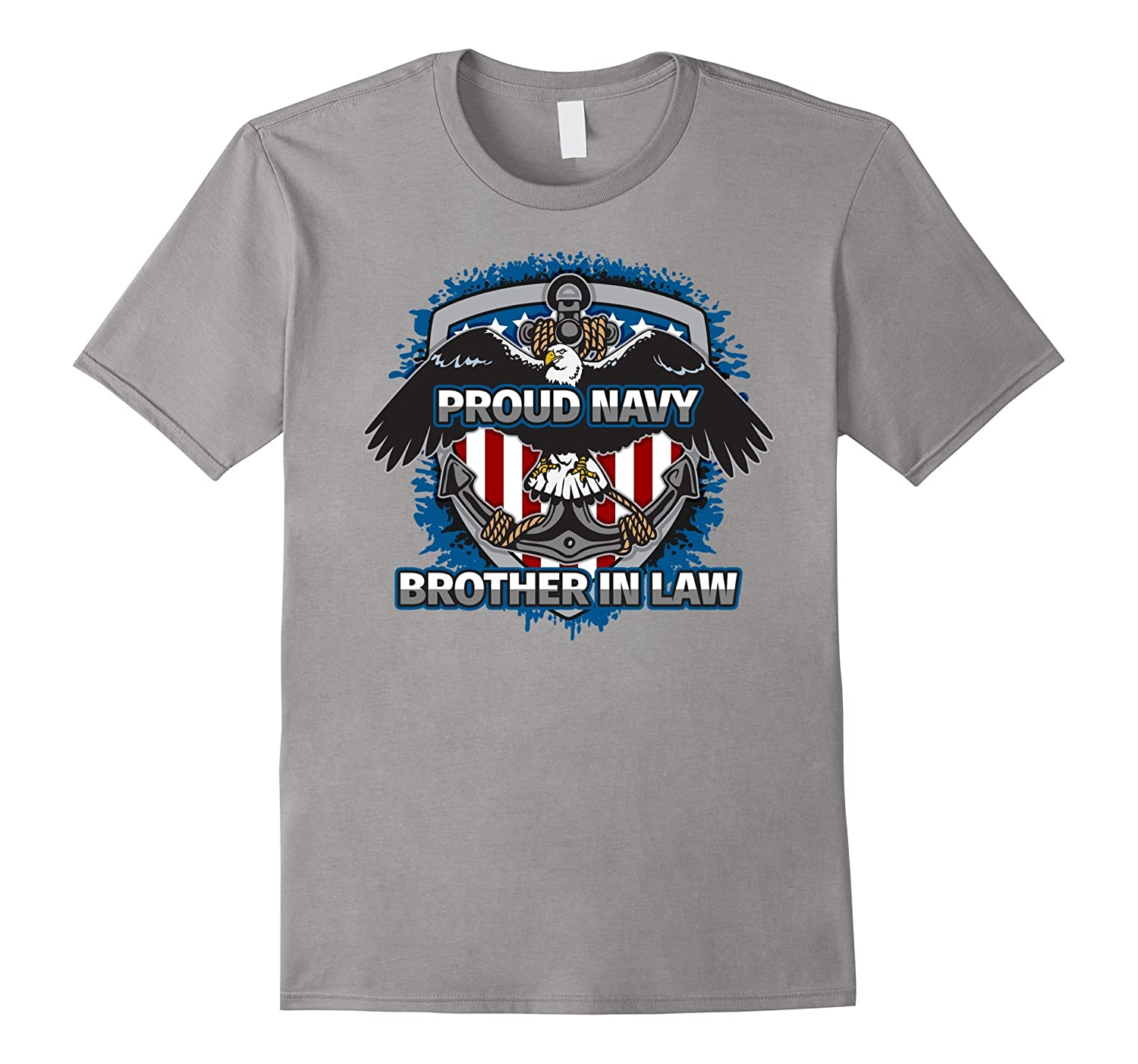 Mens Proud Navy Brother in Law Naval Support T-shirt