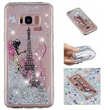 E-Mandala Funda Samsung Galaxy S8 Liquido Glitter Brillante ...
