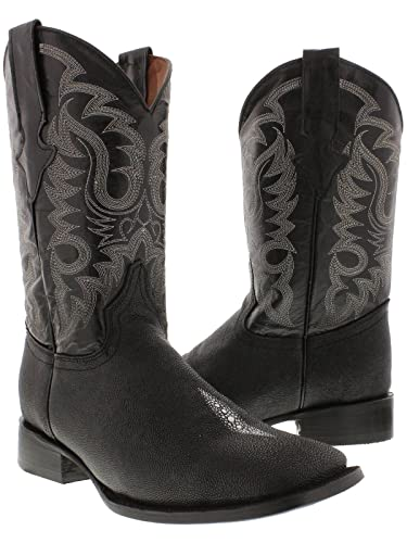 Amazon.com | Texas Legacy - Men's Black Stingray Single Stone ...