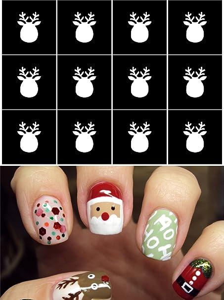 Christmas Nail Stencils Stickers Vinyl Nail Artnail Deco Airbrush