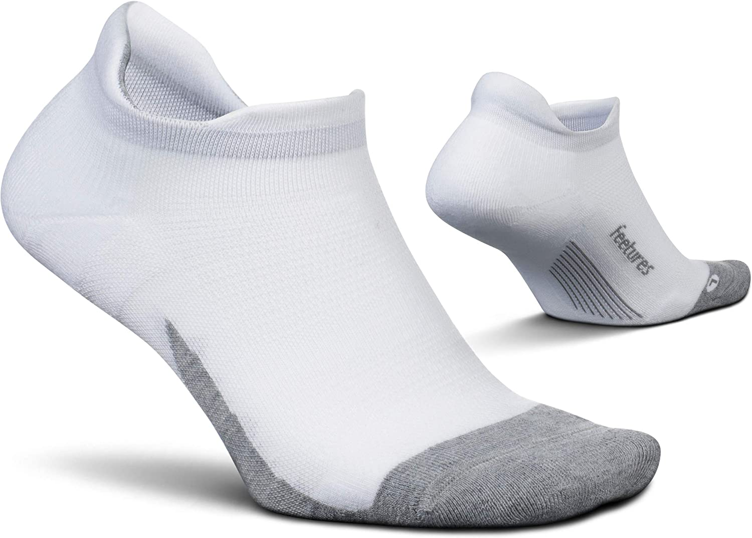 Feetures Unisex Elite Max Cushion No Show Tab Sock Block at  Men's Clothing store