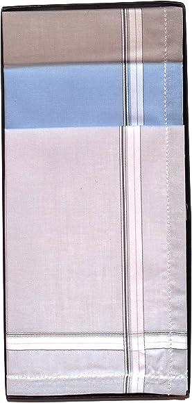 6 Pañuelos de Caballero de la Marca Guasch 100% Algodón colores ...