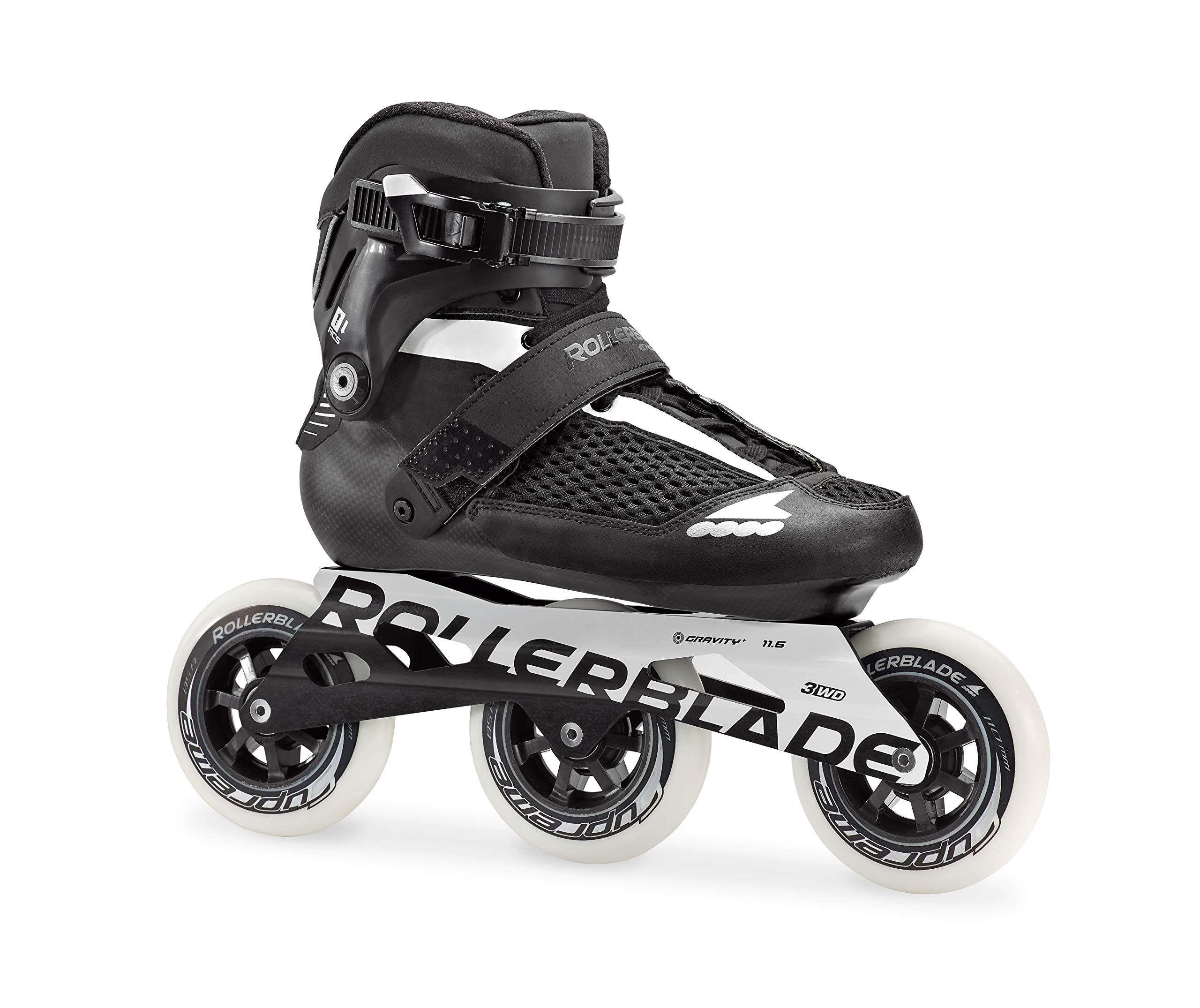 Rollerblade Endurace 110 Unisex Adult Fitness Inline Skate, Black and White, High Performance Inline Skates