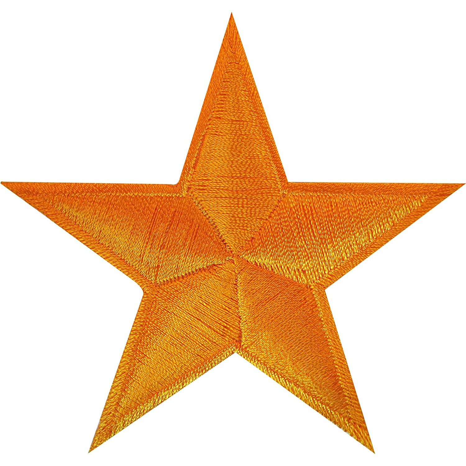 Orange Yellow Gold Star Iron On Patch Sew On Badge Crafts Embroidered Applique