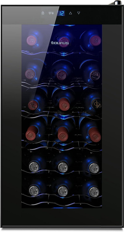 Taurus PTWC-18 Vinoteca de 18 botellas, Negro: Taurus: Amazon.es ...