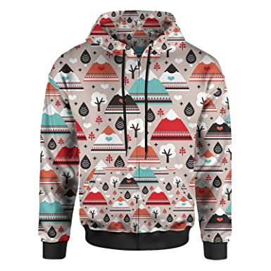 4026f934e Queen of Cases South Western Mountain Ranges Men Zip up Hoodie - XS
