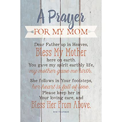 Amazoncom Mom Prayer Wood Plaque With Inspiring Quotes 6x9