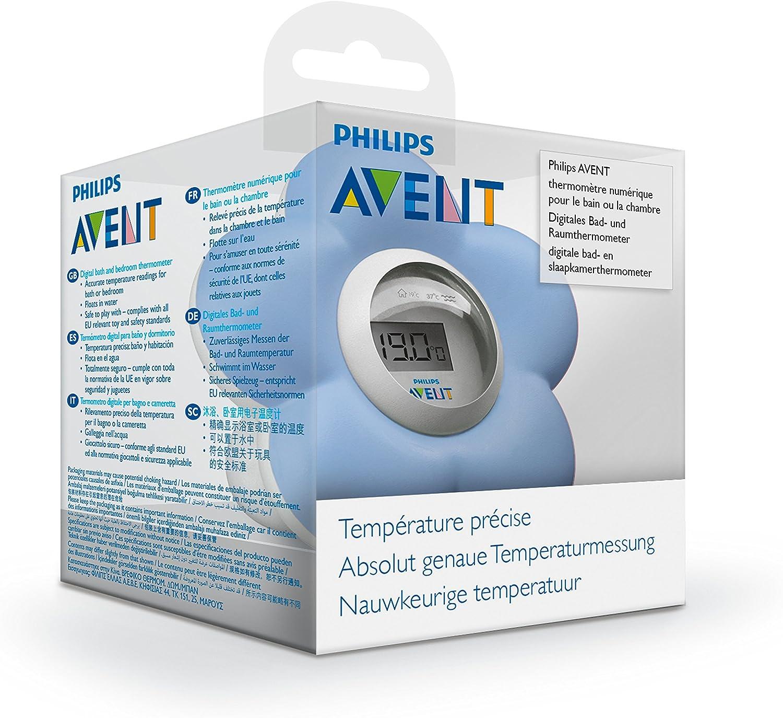 Philips Avent SCH480//00 Thermom/ètre Num/érique pour le Bain et la Chambre