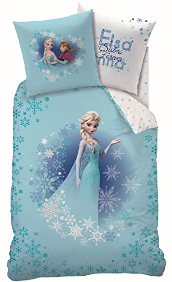 Biancheria Da Letto Disney.Set Di Biancheria Da Letto Disney Sunset Cti Motivo Elsa La