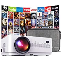 DBPOWER L21 LCD Video Projector, 4200L 1080P 1920x1080 Supported Full HD Mini Movie Projector with HDMIx2/USB/SD/AV…
