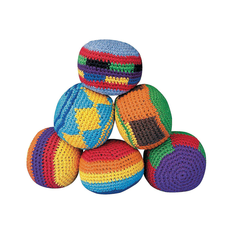 Hackey Sacks Knitted Kick Balls (Pack of 12) by Fun Express