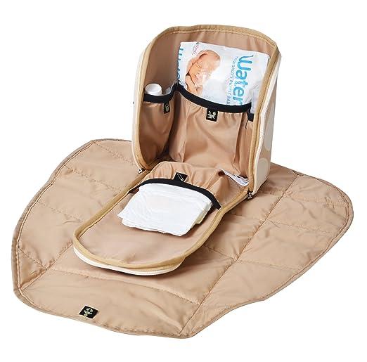 d91fb9da2d453 PacaPod Fortuna Tan Designer Baby Wickeltasche – Luxus Leder und Canvas  Tote 3 in 1 Organisieren System  Amazon.de  Baby