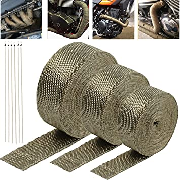 Motorcycles Exhaust Heat Wrap Roll Cable Insulation Heat Cool AIR Pipe Tape