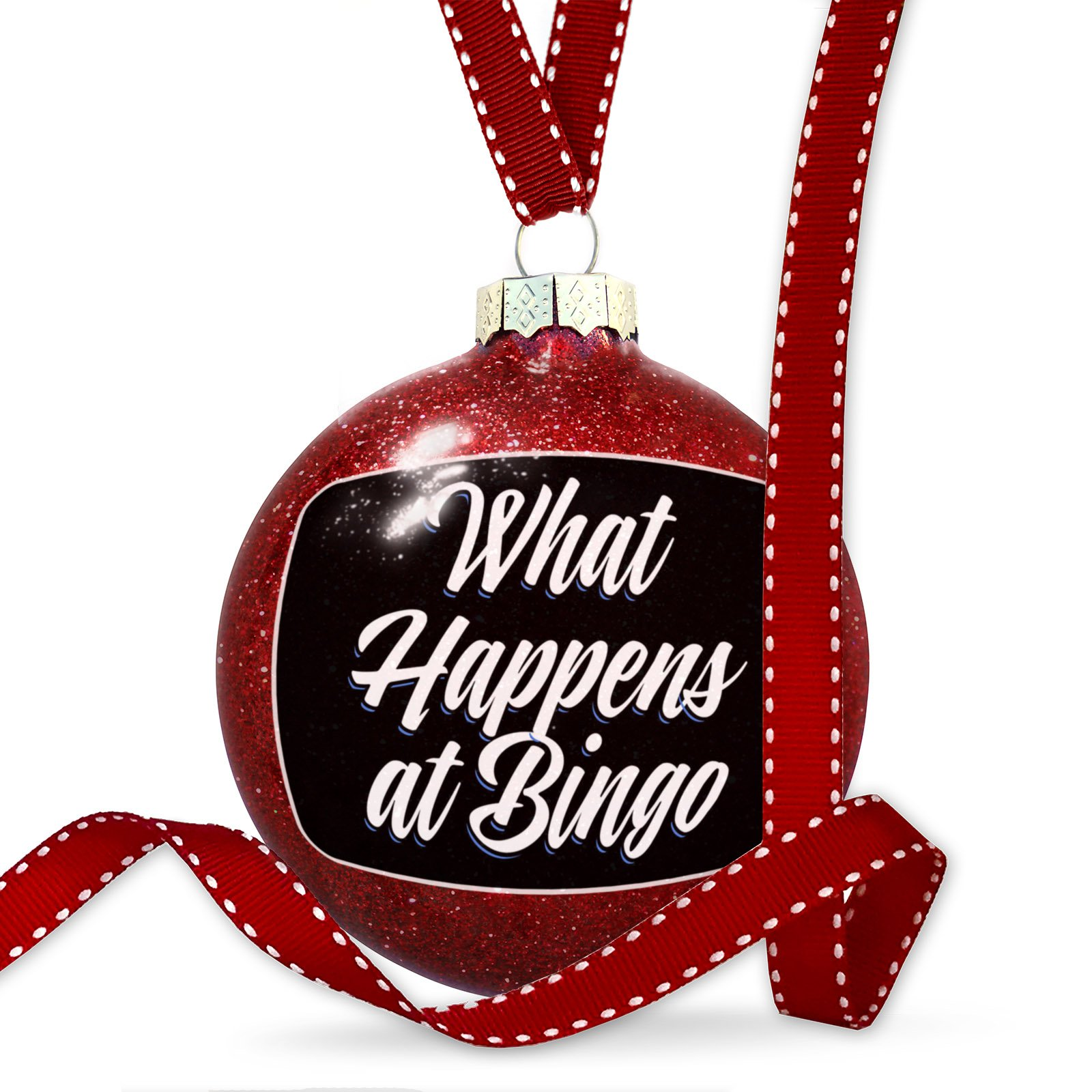 Christmas Decoration Classic design What Happens at Bingo Ornament by NEONBLOND