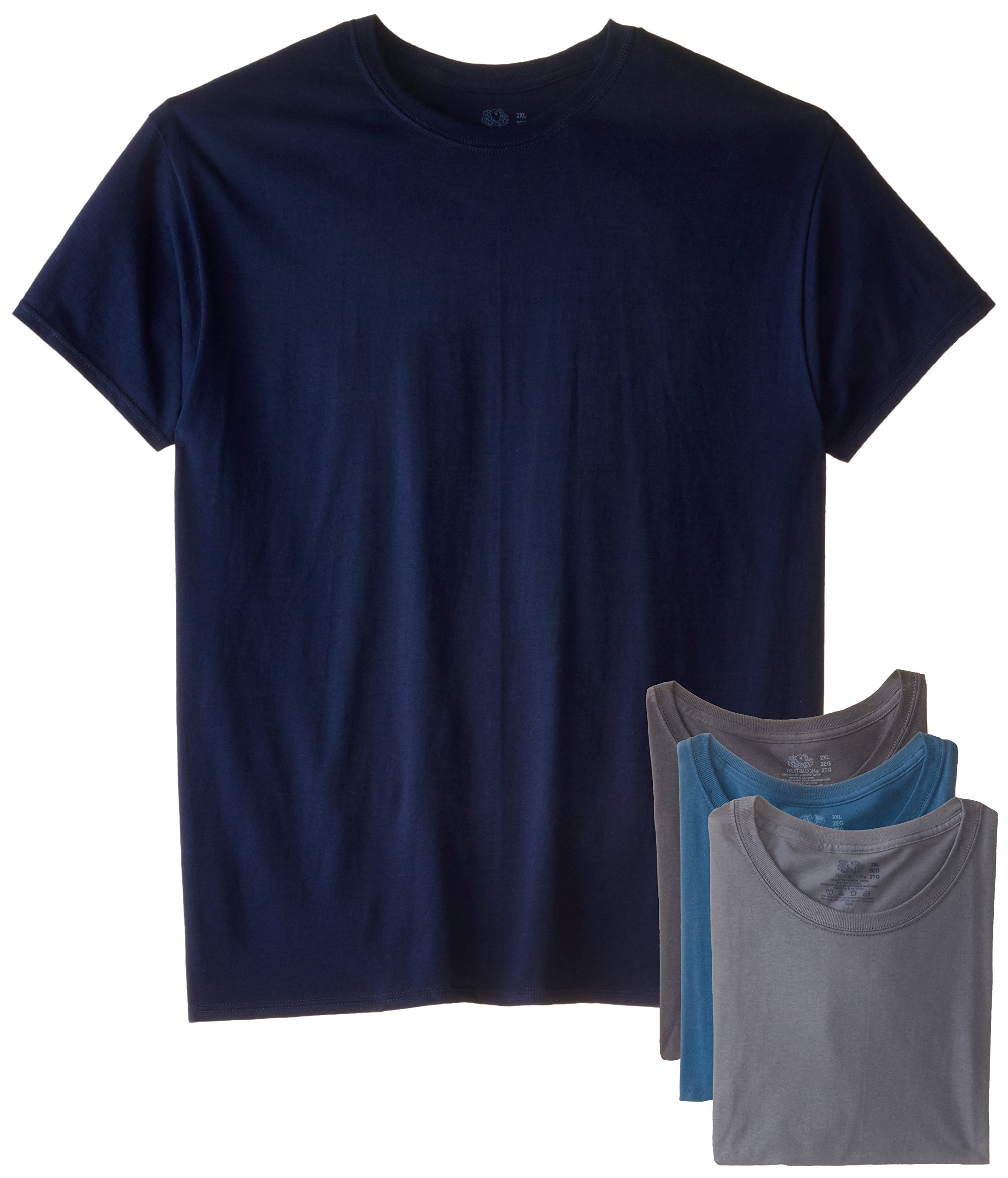Fruit of the Loom Men's Crew Neck T-Shirt (Pack of 4), Assorted, XX-Large