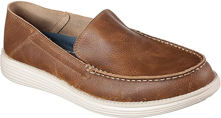 picked up the cheapest super cheap Skechers Status Breson Mens Other Leather Material Casual Shoes ...