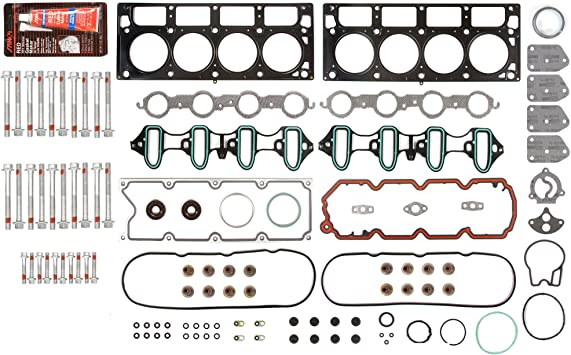SCITOO Replacement for Head Gasket Bolts Kit fit 2002-2011 Hummer Isuzu Saab Chevrolet Express Buick GMC Engine Head Bolts Set Automotive Replacement Gaskets Sets