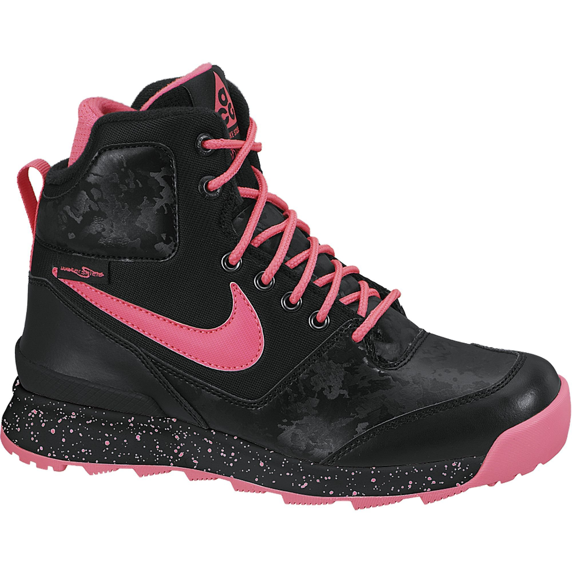 Boy's Nike Stasis ACG (GS) Boot Black/Pink Size 7 M US by NIKE