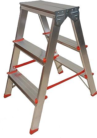 210/20 - Escalera (3 peldaños, doble acceso): Amazon.es: Bricolaje y herramientas