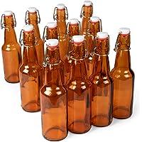Botellas de cerveza Grolsch de vidrio ámbar de 325 ml – Sello hermético con tapa abatible – Suministros para la…