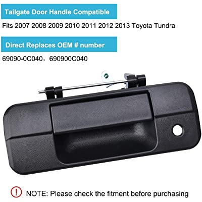 Buy Ristow Tailgate Handle Exterior Door Handles With Keyhole For 2007 2013 Toyota Tundra Replacement Of 69090 0c040 690900c040 81213 Online In Indonesia B08sm4q9f1